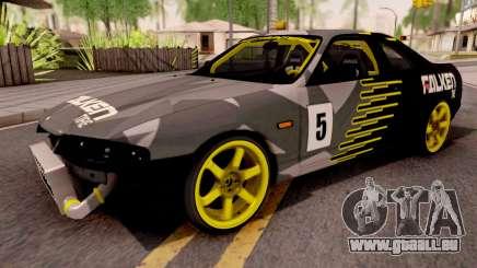 Nissan Skyline R33 Drift Falken Camo v2 für GTA San Andreas
