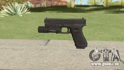 Glock 17 Black With Flashlight für GTA San Andreas