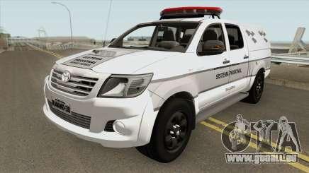 Toyota Hilux SRV 2014 (GETAP MG) pour GTA San Andreas