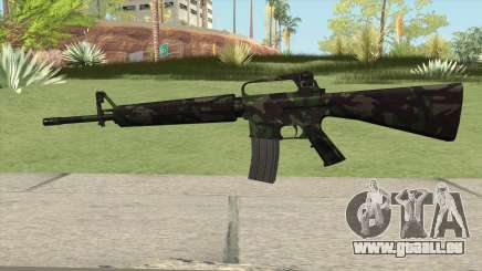 M16A2 Full Forest Camo (Stock Mag) pour GTA San Andreas