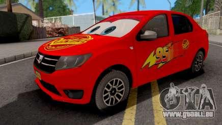 Dacia Logan 2 2016 Lightning Mcqueen v1 für GTA San Andreas