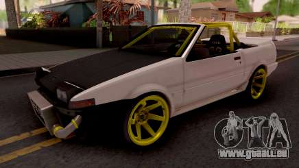 Toyota AE86 Cabrio Drift für GTA San Andreas