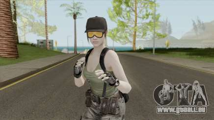 Jill Valentine Army Outfit From Resident Evil pour GTA San Andreas