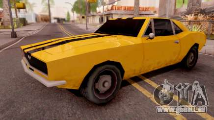 Chevrolet Camaro SS Yellow für GTA San Andreas