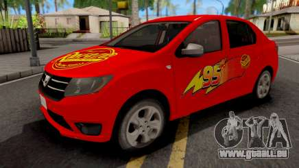 Dacia Logan 2 2016 Lightning Mcqueen v2 pour GTA San Andreas