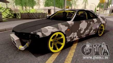 Nissan Skyline R33 Drift Camo v2 pour GTA San Andreas
