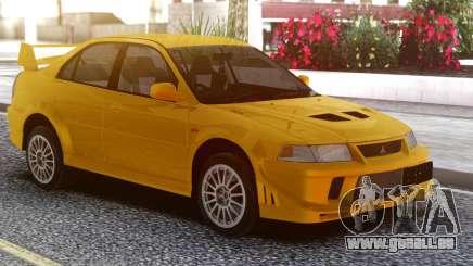 Mitsubishi Lancer Evolution VI Yellow für GTA San Andreas