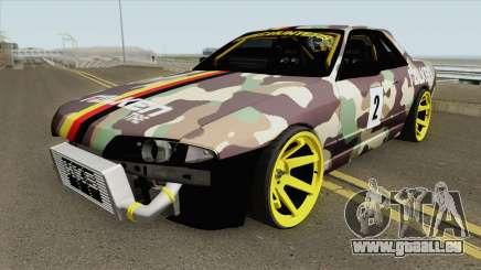 Nissan Skyline R32 Drift Falken Germany HQ pour GTA San Andreas