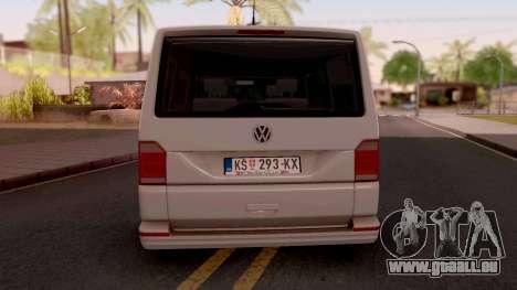 Volkswagen Transporter T6 2018 pour GTA San Andreas