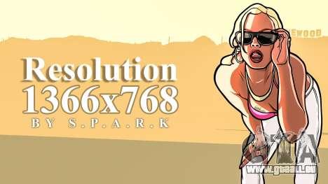 1366x768 Résolution Fix pour GTA San Andreas