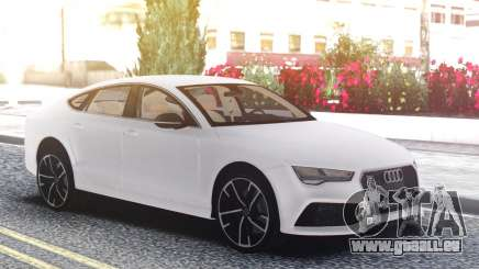 Audi RS7 White pour GTA San Andreas