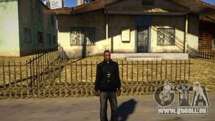 Pacman Noir À Capuche pour GTA San Andreas