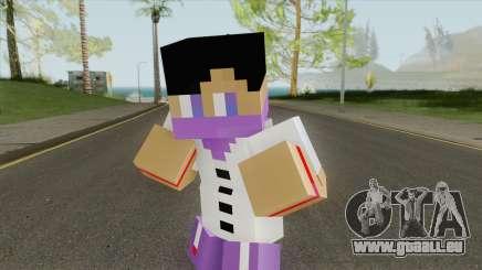 Ballas Minecraft Skin pour GTA San Andreas