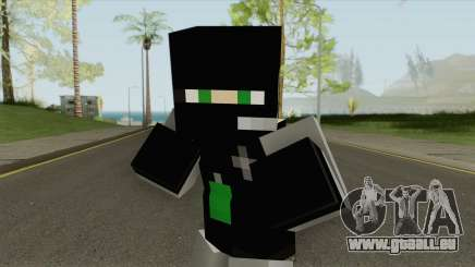 SWAT Minecraft Skin pour GTA San Andreas