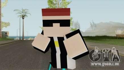 Aztaceas Minecraft Skin pour GTA San Andreas