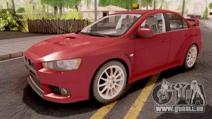 Mitsubishi Lancer Evo X Red für GTA San Andreas