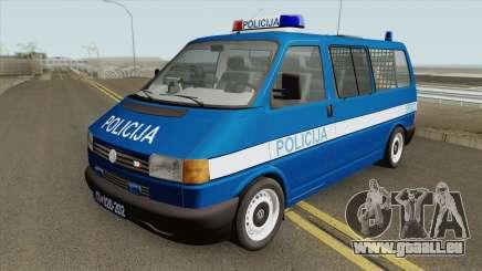 Volkswagen Transporter Mk4 Policija V1 1999 pour GTA San Andreas