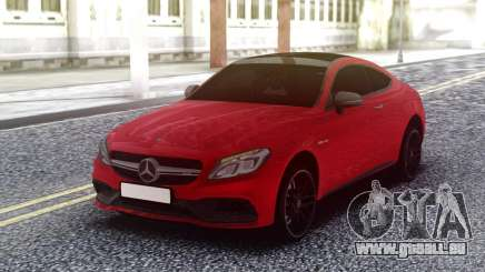Mercedes-Benz C63S AMG Red pour GTA San Andreas