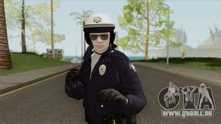 GTA Online Random Skin 192 SAHP Biker Officer pour GTA San Andreas