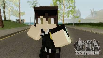 Police Minecraft Skin V2 pour GTA San Andreas