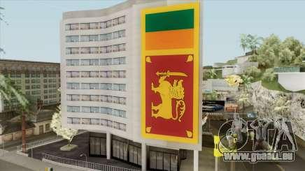 Srilanka Flag On Building für GTA San Andreas