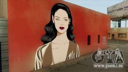 Rihanna Street Art für GTA San Andreas