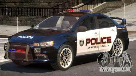 Mitsubishi Lancer X Police V1.0 für GTA 4