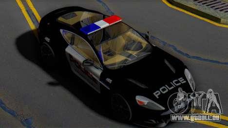 Aston Martin Vanquish Police Version (IVF) pour GTA San Andreas
