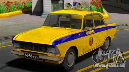 La Moskvitch 412 Police (GAI) de l'URSS pour GTA San Andreas