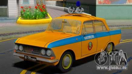 AZLK Moskvitch 408 URSS Police pour GTA San Andreas