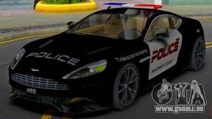 Aston Martin Vanquish Police Version (IVF) für GTA San Andreas