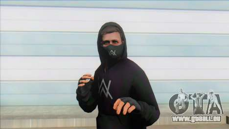 GTA Online Skin Ramdon Alan Walker V1 pour GTA San Andreas