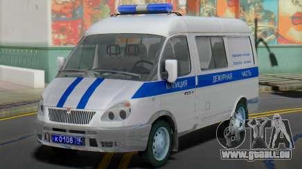 GAZ 2217 Sobol de Police de l'Obligation de pour GTA San Andreas