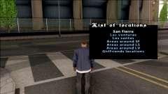 Teleportation Mod pour GTA San Andreas