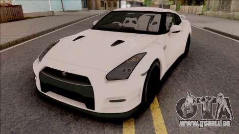 Nissan GTR R35 2015 (SA Lights) pour GTA San Andreas