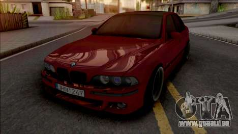 BMW M5 E39 Stanced Red pour GTA San Andreas
