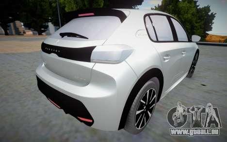 Peugeot 208 2020 (interior lowpoly) pour GTA San Andreas