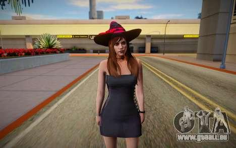 GTA Online Skin Ramdon Female Allian Dress Witch pour GTA San Andreas