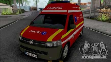 Volkswagen Transporter T5 Fire Brigade Ambulance pour GTA San Andreas