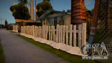 Winter Fence Wood 2 pour GTA San Andreas