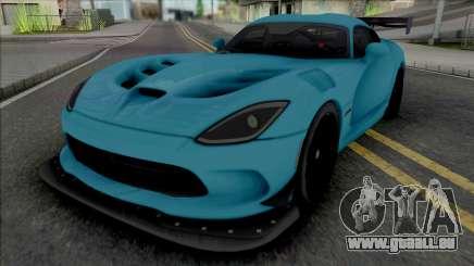 Dodge Viper ACR 2016 (SA Lights) für GTA San Andreas