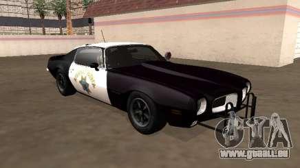 Pontiac Firebird 1970 California Highway Patrol pour GTA San Andreas