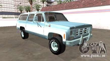 Chevrolet Deluxe Suburban 1974 pour GTA San Andreas