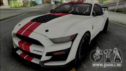 Ford Mustang Shelby GT500 2020 (SA Lights) pour GTA San Andreas