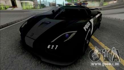 Koenigsegg Agera R Police from NFS Rivals für GTA San Andreas