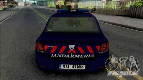 Dacia Logan 2018 Jandarmerie für GTA San Andreas