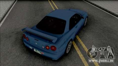 Nissan Skyline GT-R (BNR34) Initial D 4th Stage für GTA San Andreas