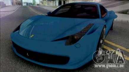 Ferrari 458 Italia [Fixed] pour GTA San Andreas