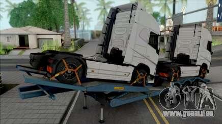 Transporter Cargo Truck Trailer pour GTA San Andreas