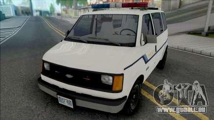 Chevy Astro 1988 Fort Carson Police Department für GTA San Andreas
